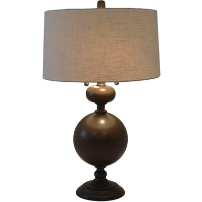 Bronzed Steel 30.5 Table Lamp