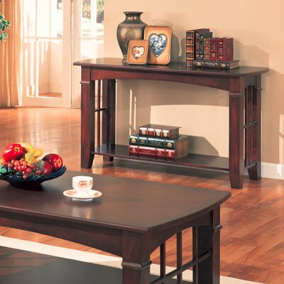Image of Wildon Home Brentwood Sofa Table with Wood Top in Cherry (CST3104)