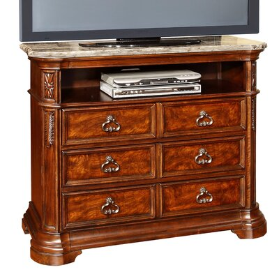 Royal Palace 6 Drawer Media Chest