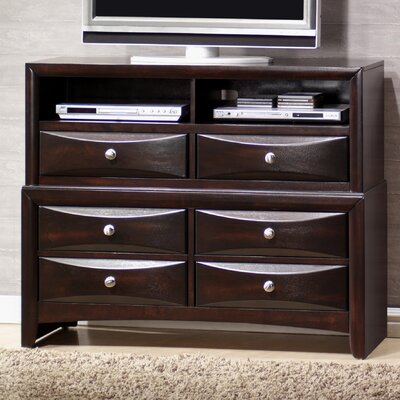 Raffin 6 Drawer Media Chest