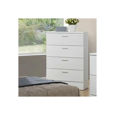 Moderno 4 Drawer Chest Color: White