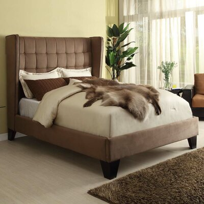 Oakland Upholstered Platform Bed Size: King