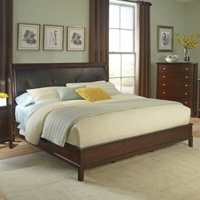Denver Upholstered Panel Bed Size: King