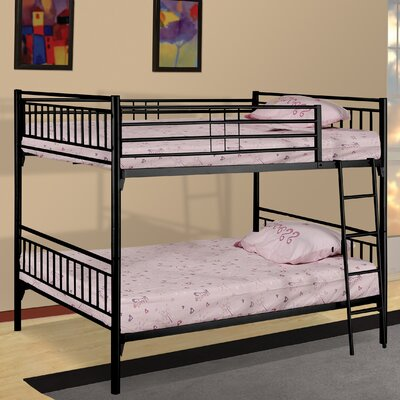 Twin Over Twin Bunk Bed Color: Black