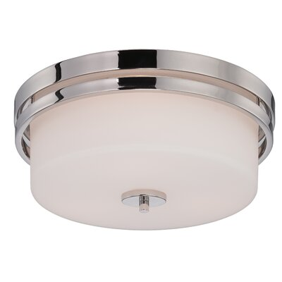 Melissa 3-Light Flush Mount Finish: Polished Nickel