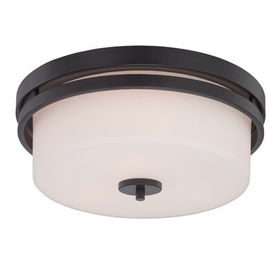 Melissa 3-Light Flush Mount Finish: Aged Bronze