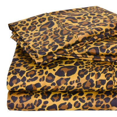 Regal 300 Thread Count Sheet Set Size: Full, Color: Leopard