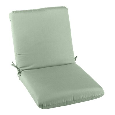 Outdoor Sunbrella Club Chair Cushion Fabric: Spa