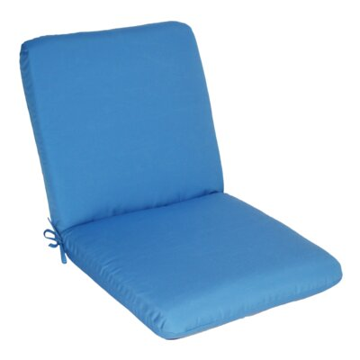 Outdoor Sunbrella Club Chair Cushion Fabric: Capri