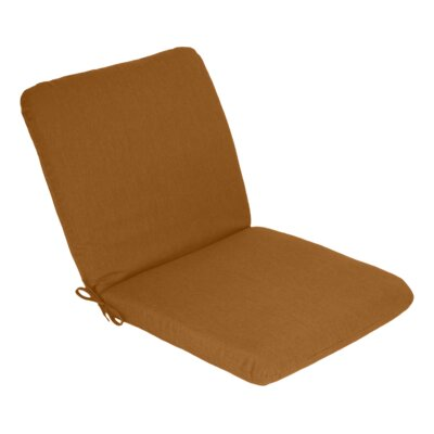 Outdoor Sunbrella Club Chair Cushion Fabric: Teak