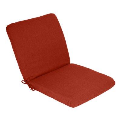 Outdoor Sunbrella Club Chair Cushion Fabric: Henna