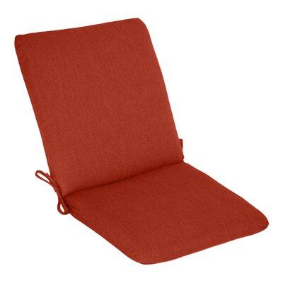 Outdoor Sunbrella High Back Cushion Fabric: Henna