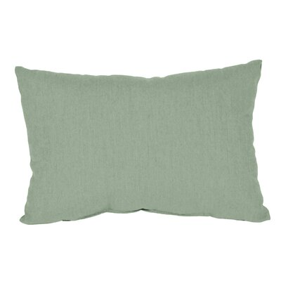Outdoor Sunbrella Lumbar Pillow Color: Spa, Size: 9 x 12