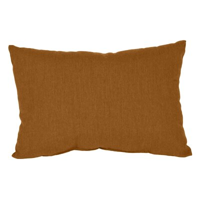 Outdoor Sunbrella Lumbar Pillow Fabric: Teak