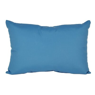 Outdoor Sunbrella Lumbar Pillow Color: Capri, Size: 9 x 12
