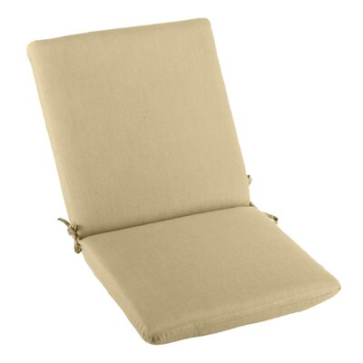 Outdoor Sunbrella High Back Cushion Fabric: Sand