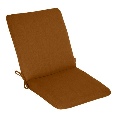 Outdoor Sunbrella High Back Cushion Fabric: Teak