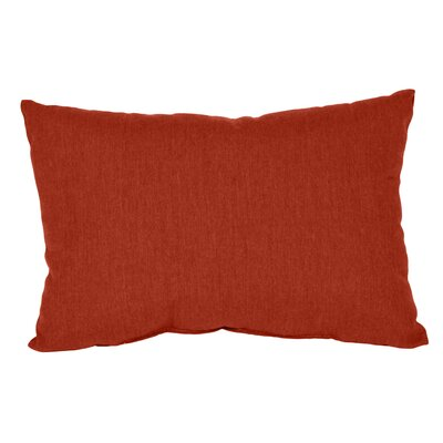 Outdoor Sunbrella Lumbar Pillow Color: Henna, Size: 9 x 12