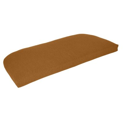 Outdoor Sunbrella Bench Cushion Fabric: Teak