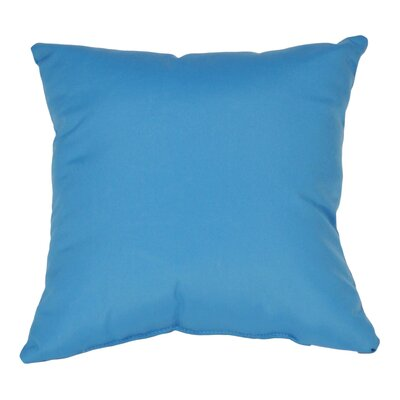 Outdoor Sunbrella Throw Pillow Color: Capri