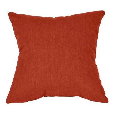 Outdoor Sunbrella Throw Pillow Color: Henna, Size: 15 x 15