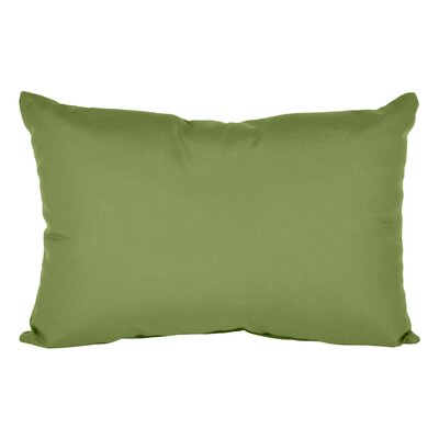 Outdoor Sunbrella Lumbar Pillow Color: Cilantro, Size: 9 x 12