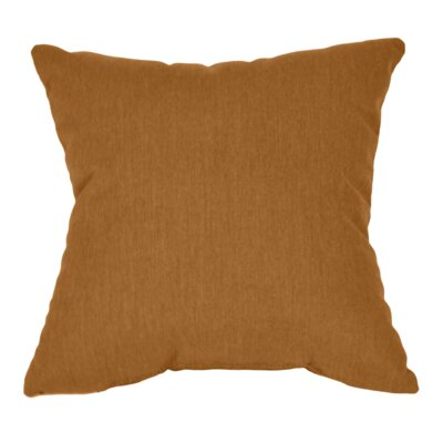 Outdoor Sunbrella Throw Pillow Color: Teak, Size: 15 x 15
