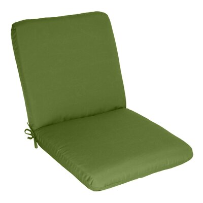 Outdoor Sunbrella Club Chair Cushion Fabric: Cilantro