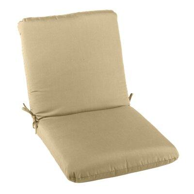 Outdoor Sunbrella Club Chair Cushion Fabric: Sand