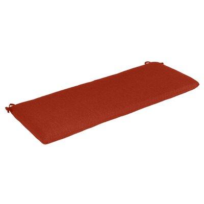 Outdoor Sunbrella Bench Cushion Fabric: Henna