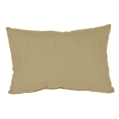 Outdoor Sunbrella Lumbar Pillow Color: Sand