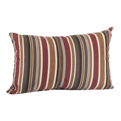 Outdoor Sunbrella Lumbar Pillow Color: Brannon Redwood