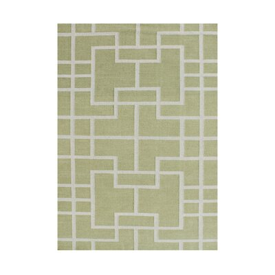Aluisa  Hand-Tufted Green Area Rug