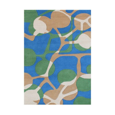 Ania  Hand-Tufted Sea Green Area Rug