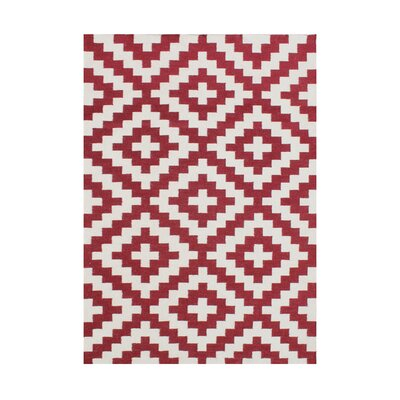 Andromaca  Hand-Tufted Red Area Rug