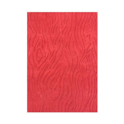 Andronica  Hand-Tufted Red Area Rug