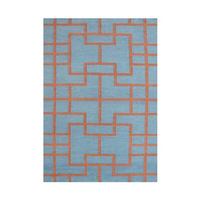 Anjali  Hand-Tufted Smoke Blue Area Rug