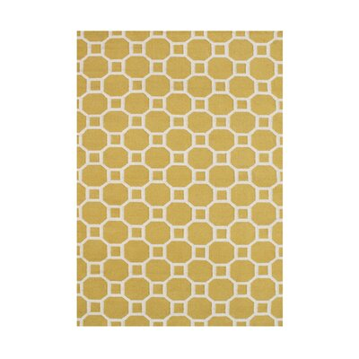 Annina  Hand-Tufted Yellow Area Rug