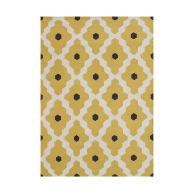 Anninka  Hand-Tufted Yellow Area Rug