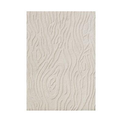 Annie Kim  Hand-Tufted White Cap Gray Area Rug