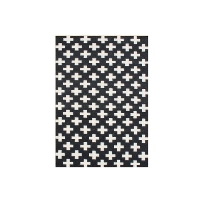 Aipril  Hand-Tufted Black Area Rug