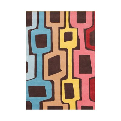 Aliezah  Hand-Tufted Coca Brown Area Rug