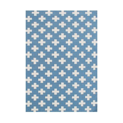 Akeela  Hand-Tufted Blue Area Rug
