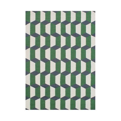 Alleez  Hand-Tufted Forest Green Area Rug