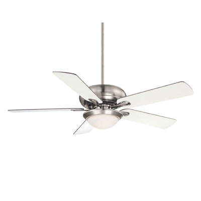 52 Ivy 5-Blade Ceiling Fan Motor Finish: English Bronze, Blade Finish: Walnut / Teak, Shade Color: Cream Frosted