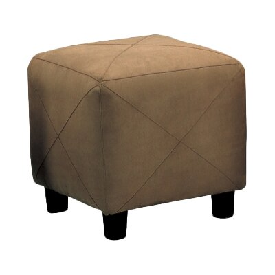 Janda Cube Ottoman Upholstery: Brown