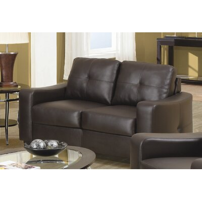 502732 CST9313 Wildon Home Leather Loveseat