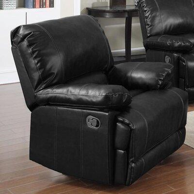 Dalton Recliner Upholstery: Black