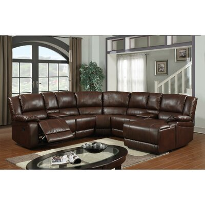 Cadence Reclining Sectional Upholstery: Brown