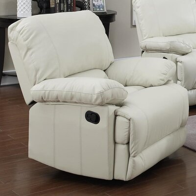 Dalton Manual Recliner Upholstery: Cream